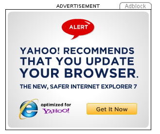 IE ad from Yahoo!